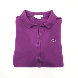 Lacoste Purple Logo Polo 40